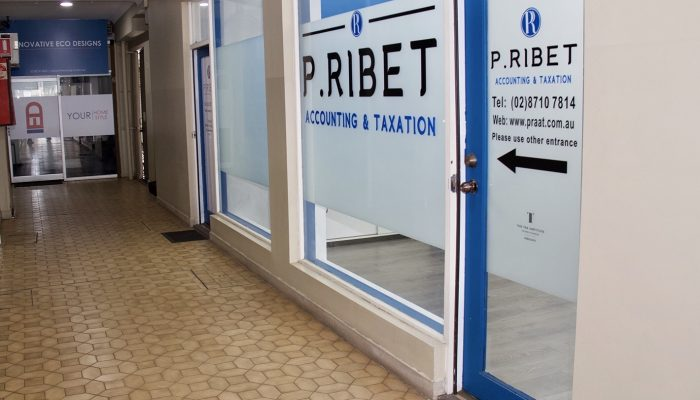 Lesvos Arcade corridor view of P.Ribet Accounting & Taxation office